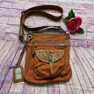 Fossil Orange Crossbody Satchel Purse